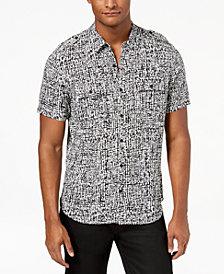 GUESS Men's Abstract Grid Shirt