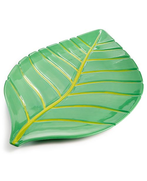 Martha Stewart Collection Leaf Platter, Created for Macy's