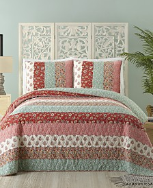 Jessican Simpson Caledonia Cotton Quilt and Sham Collection