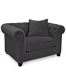 """Saybridge 52"""" Fabric Armchair, Created for Macy's"""