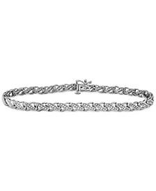 Diamond Swirl Tennis Bracelet (1/2 ct. t.w.) in 10k Gold or White Gold