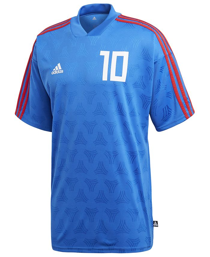 adidas Men's ClimaLite® Jacquard Soccer Shirt, Created for Macy's ...