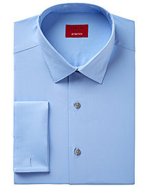 Alfani Men's Classic Fit Performance Stretch Easy-Care Solid Dress Shirt, Created for Macy's