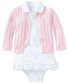 폴로 랄프로렌 여아용 우주복 Polo Ralph Lauren Baby Girls Pony Perfect Ensemble