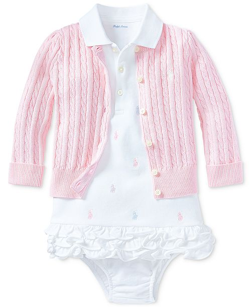 Polo Ralph Lauren Ralph Lauren Baby Girls Pony Perfect Ensemble