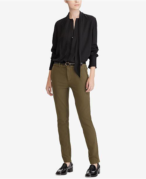 17eebbadd24f4 Polo Ralph Lauren Silk Georgette Necktie Blouse   Reviews - Tops ...
