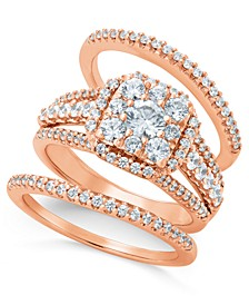 Diamond Bridal Set (1-1/2 ct. t.w.) in 14k Rose Gold