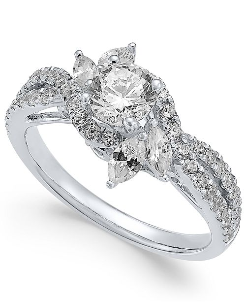 Macy's Diamond Engagement Ring (1-1/4 ct. t.w.) in 14k White Gold