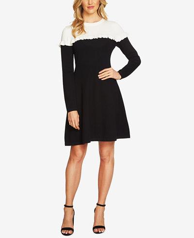 CeCe Colorblocked Sweater Dress