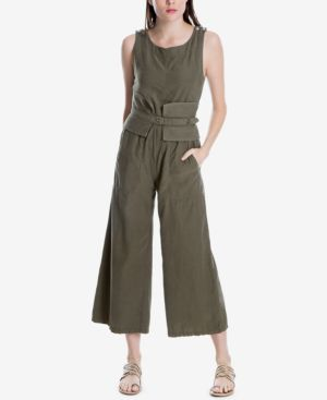 Max Studio London Sleeveless Belted Jumpsuit, Created for Macy's
