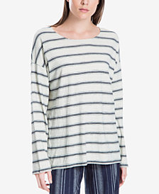 Max Studio London Cotton Striped Top, Created for Macy's