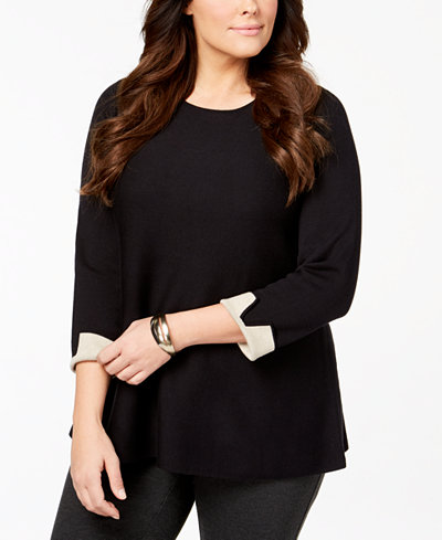 Alfani Plus Size Tunic Sweater, Created for Macy's
