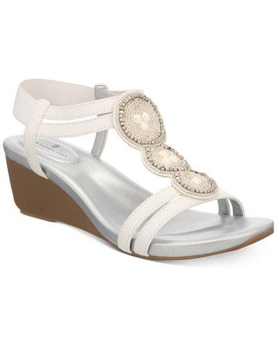 Bandolino Harman Embellished Wedge Sandals