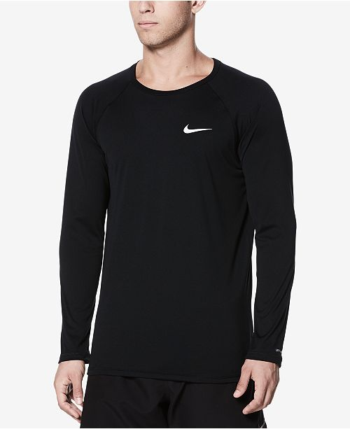 5ba71747 Nike Men's Long-Sleeve Hydroguard T-Shirt & Reviews - Swimwear - Men ...