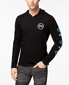 I.N.C. Men's Textured Embroidered Hooded T-Shirt, Created for Macy's