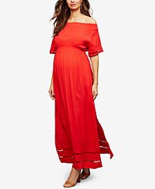 RIPE Maternity Off-the-Shoulder Maxi Dress