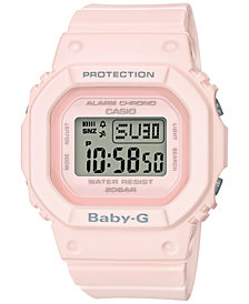 Baby-G Women's Digital Blush Pink Resin Strap Watch 40mm