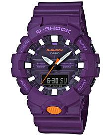 G-Shock Men's Analog-Digital Purple Resin Strap Watch 48.6mm