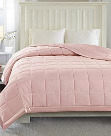 Madison Park Windom Down-Alternative Blankets, Quilted Microfiber with 3M Scotchgard™ Moisture Management