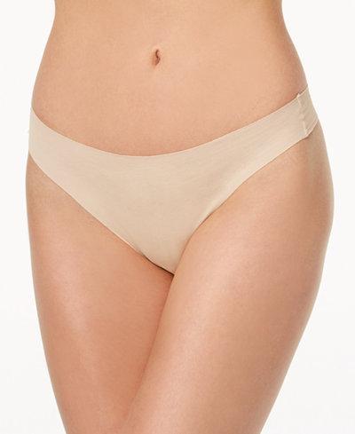 Wacoal Beyond Naked Ribbed Clean-Cut Thong 879259
