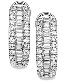 Diamond Hoop Earrings (1-1/2 ct. t.w.) in 14k White Gold