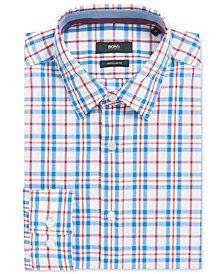 BOSS Men's Regular/Classic-Fit Plaid Cotton Sport Shirt
