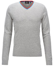 BOSS Men's Slim-Fit V-Neck Sweater