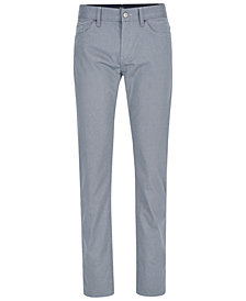 BOSS Men's Slim-Fit Geometric Stretch Pants