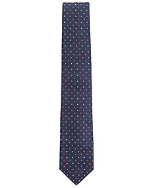 BOSS Men's Dot-Embroidered Silk Tie