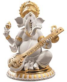 Veena Ganesha Golden Re-Deco Figurine
