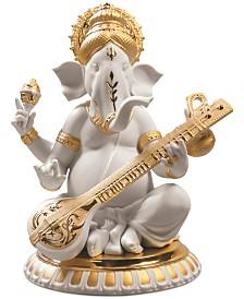 Lladró Veena Ganesha Golden Re-Deco Figurine