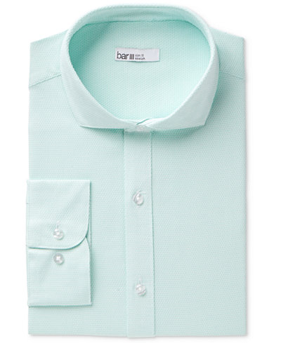 Bar III Men's Slim-Fit Stretch Easy-Care Diamond Line Dress Shirt, Created for Macy's