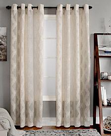"Miller Curtains Clip 50"" x 95"" Geometric Window Panel"