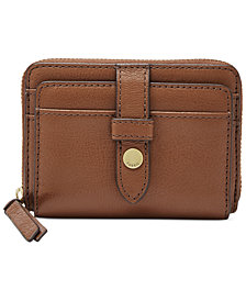 Fossil Fiona Leather Zip Wallet