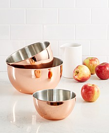 3-Pc. Copper-Plated Mixing Bowl Set, Created for Macy's