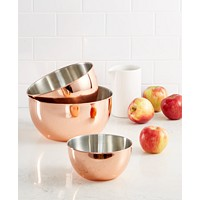 Deals on Martha Stewart Collection 3-Pc. Copper-Plated Mixing Bowl Set