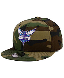 New Era Boys' Charlotte Hornets Woodland Team 9FIFTY Snapback Cap