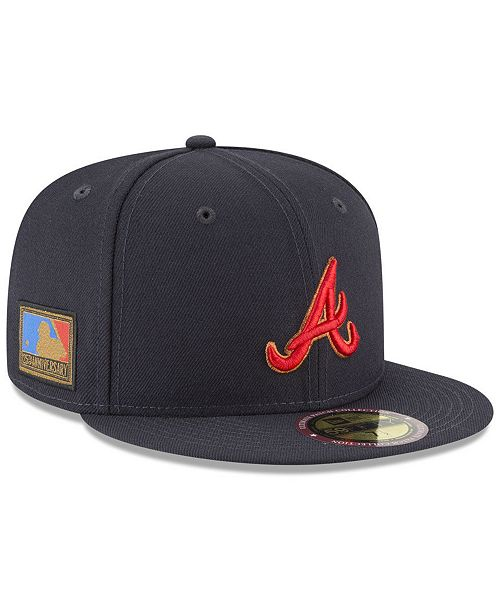 detailed look 401bd 0a9f3 ... New Era Atlanta Braves Ultimate Patch Collection 125th Anniversary  59FIFTY Fitted Cap ...