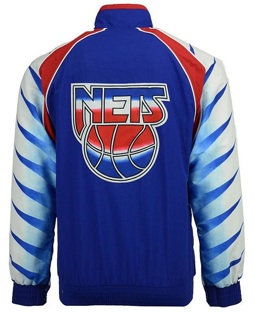 new concept 1a173 9d409 Mitchell & Ness Men's New Jersey Nets Authentic Warm Up ...