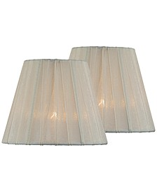 "Set of 2 Clip-on 6"" Empire Chandelier Shade"