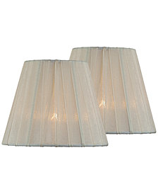 "Lite Source Set of 2 Clip-on 6"" Empire Chandelier Shade"