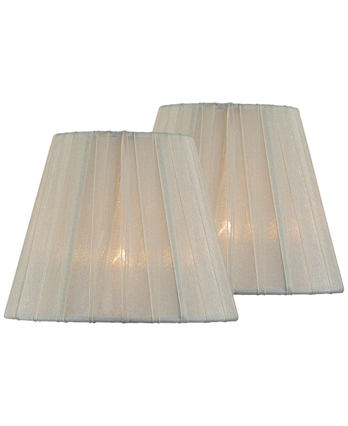 """Lite Source - Set of 2 Clip-on 6"""" Empire Chandelier Shade"""