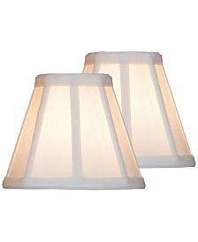 "Lite Source Set of 2 Clip-on 8"" Empire Chandelier Shade"