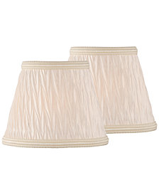 """Lite Source Set of 2 Clip-on 5"""" Pleated Coolie Chandelier Shade"""
