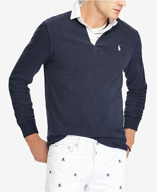 Polo Ralph Lauren Men s Iconic Rugby Polo Shirt - Casual Button-Down ... e63b6dd784eb