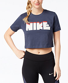 Nike Cotton Cropped Logo T-Shirt