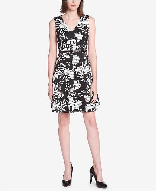 Tommy Hilfiger Printed Illusion-Stripe Dress