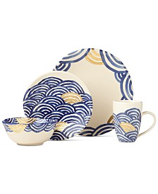 Lenox-Wainwright Pompeii Blu Sea 4-Piece Place Setting, Created for Macy's