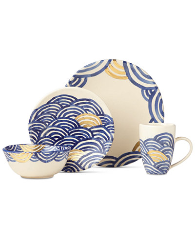 Crafted by Wainwright Pompeii Blu Sea 4-Piece Place Setting, Created for Macy's