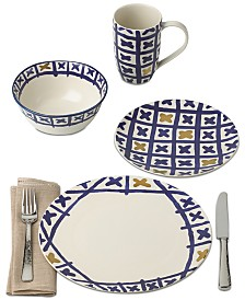 Lenox-Wainwright Pompeii Blu Land Dinnerware  Collection, Created for Macy's
